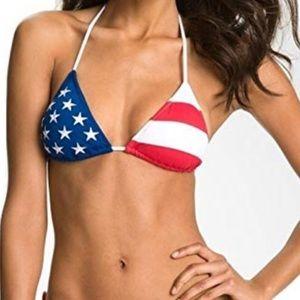 Ralph Lauren American flag bikini top!